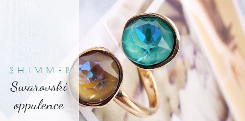 Handmade rings with Swarovski crystals wholesale